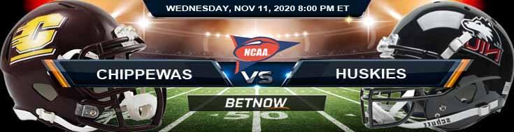 Central Michigan Chippewas vs NIU Huskies 11-11-2020 NCAAF Results Odds & Predictions