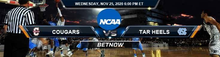 Charleston Cougars vs North Carolina Tar Heels 11-25-2020 Spread Game Analysis and Basketball Betting