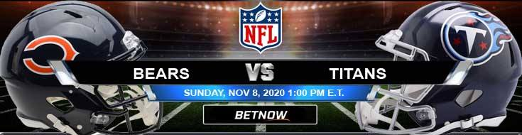 Chicago Bears vs Tennessee Titans 11-08-2020 Previews NFL Spread and Game Analysis