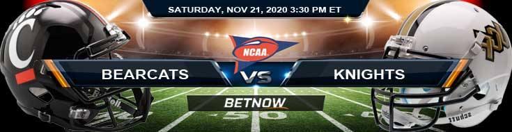 Cincinnati Bearcats vs UCF Knights 11-21-2020 NCAAF Tips Results & Predictions