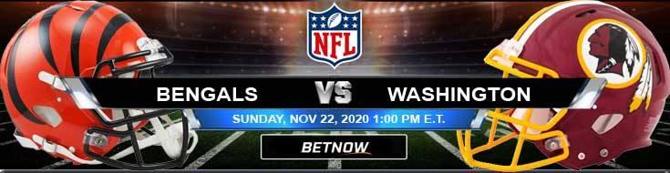 Cincinnati Bengals vs Washington Football Team 11/22/2020 Predictions, Previews and Spread