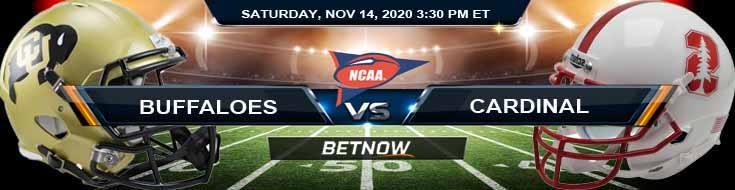 Colorado Buffaloes vs Stanford Cardinal 11-14-2020 NCAAF Spread Picks & Previews