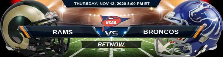 Colorado State Rams vs Boise State Broncos 11-12-2020 NCAAF Odds Picks & Predictions