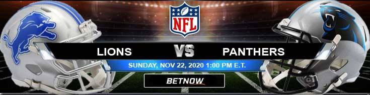 Detroit Lions vs Carolina Panthers 11-22-2020 Previews Spread and Game Analysis