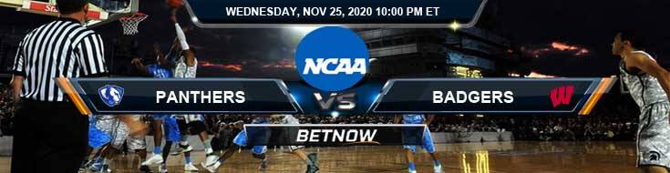 Eastern Illinois Panthers vs Wisconsin Badgers 11-25-2020 NCAAB Predictions Previews & Spread