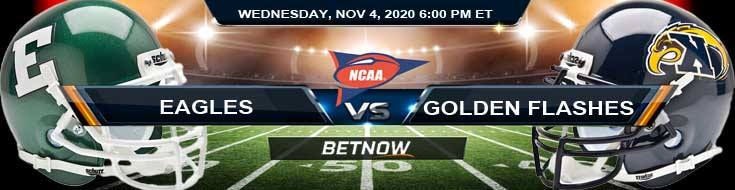 Eastern Michigan Eagles vs Kent State Golden Flashes 11-04-2020 NCAAF Odds Picks & Predictions