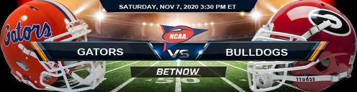 Florida Gators vs Georgia Bulldogs 11-07-2020 NCAAF Picks Odds and Football Betting
