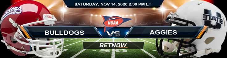 Fresno State Bulldogs vs Utah State Aggies 11-14-2020 NCAAF Forecast Odds & Spread