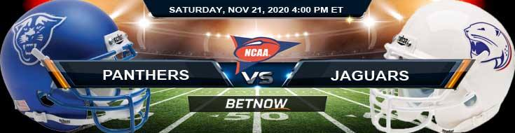 Georgia State Panthers vs South Alabama Jaguars 11-21-2020 NCAAF Tips, Odds & Predictions