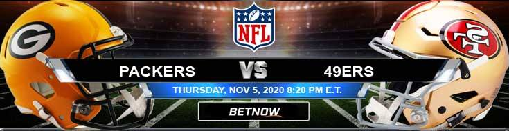 Green Bay Packers vs San Francisco 49ers 11-05-2020 Odds NFL Picks and Predictions