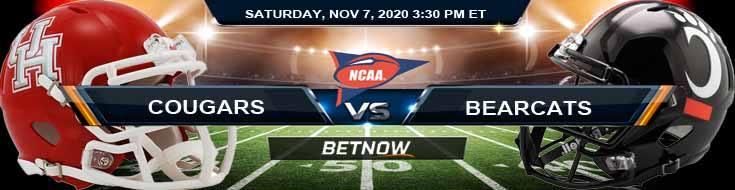 Houston Cougars vs Cincinnati Bearcats 11-07-2020 NCAAF Forecast Tips & Odds