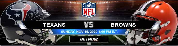 Houston Texans vs Cleveland Browns 11-15-2020 Picks NFL Predictions and Previews