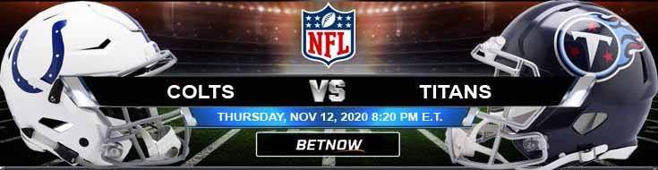 Indianapolis Colts vs Tennessee Titans 11-12-2020 Odds NFL Picks and Predictions.