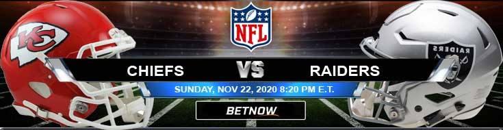 Kansas City Chiefs vs Las Vegas Raiders 11-22-2020 Picks Predictions and Previews