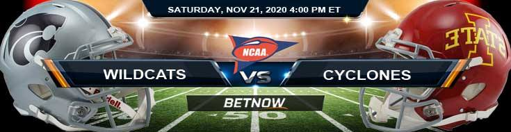 Kansas State Wildcats vs Iowa State Cyclones 11-21-2020 NCAAF Picks Previews & Game Analysis