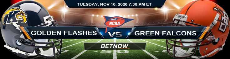 Kent State Golden Flashes vs Bowling Green Falcons 11-10-2020 NCAAF Picks Predictions & Previews