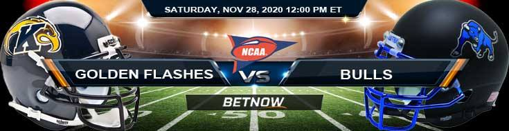 Kent State Golden Flashes vs Buffalo Bulls 11-28-2020 NCAAF Predictions Odds & Previews