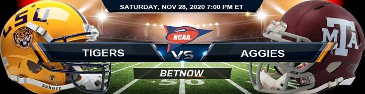 LSU Tigers vs Texas A&M Aggies 11-28-2020 Football Betting Results and Analysis