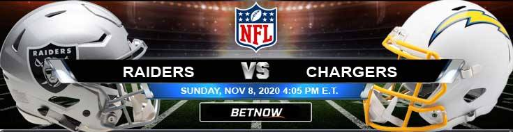 Las Vegas Raiders vs Los Angeles Chargers 11-08-2020 Results Football Betting and Odds