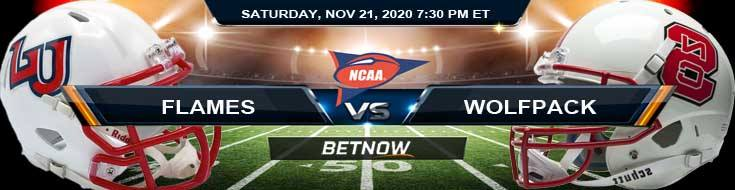 Liberty Flames vs NC State Wolfpack 11-21-2020 NCAAF Tips Forecast & Analysis