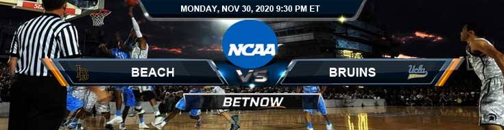 Long Beach State Beach vs UCLA Bruins 11-30-2020 NCAAB Previews Odds & Spread
