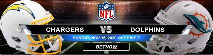 Los Angeles Chargers vs Miami Dolphins 11-15-2020 NFL Analysis Results and Football Betting