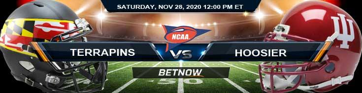 Maryland Terrapins vs Indiana Hoosiers 11-28-2020 NCAAF Previews Tips & Results