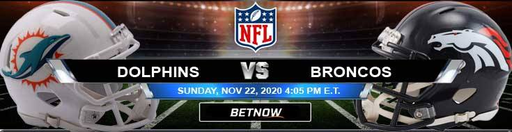 Miami Dolphins vs Denver Broncos 11/22/2020 Results, Football Betting and Odds
