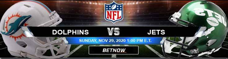 Miami Dolphins vs New York Jets 11-29-2020 Analysis Results and Football Betting