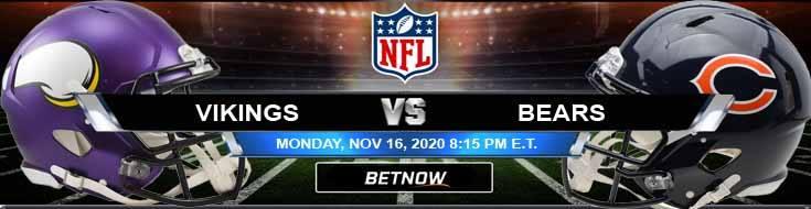 innesota Vikings vs Chicago Bears 11-16-2020 Predictions NFL Previews and Spread