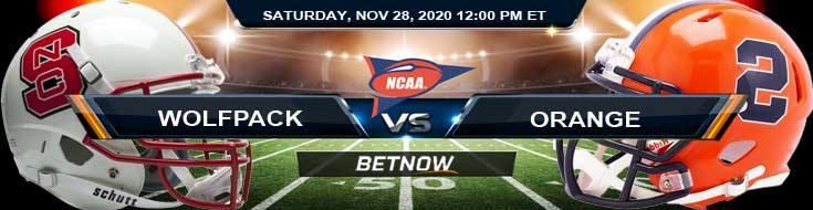 NC State Wolfpack vs Syracuse Orange 11-28-2020 Football Betting Picks & NCAAF Tips