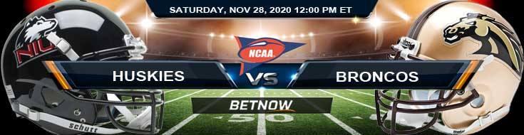 NIU Huskies vs Western Michigan Broncos 11-28-2020 NCAAF Forecast Tips & Odds