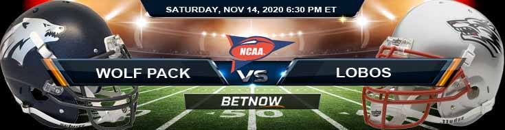 Nevada Wolf Pack vs New Mexico Lobos 11-14-2020 NCAAF Previews Picks & Spread