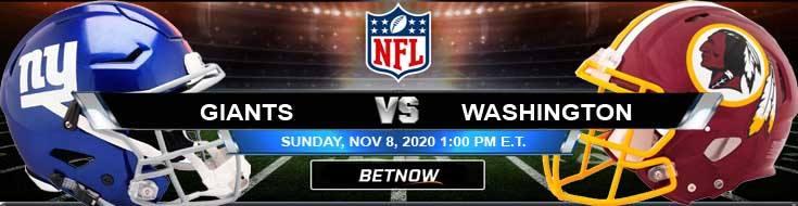 New York Giants vs Washington Football Team 11-08-2020 Forecast NFL Analysis and Results