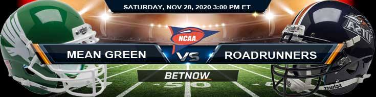 North Texas Mean Green vs UTSA Roadrunners 11-28-2020 NCAAF Picks Previews & Game Analysis