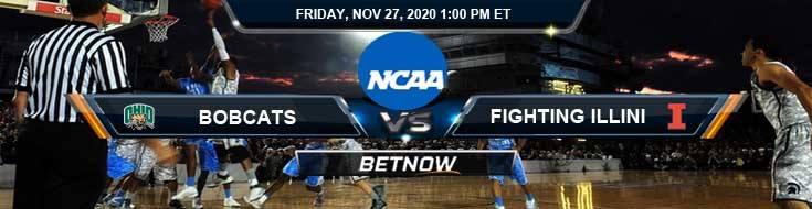 Ohio Bobcats vs Illinois Fighting Illini 11-27-2020 NCAAB Previews Odds & Spread