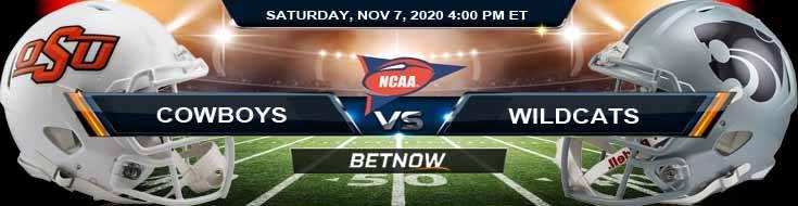 Oklahoma State Cowboys vs Kansas State Wildcats 11-07-2020 NCAAF Predictions Previews & Spread