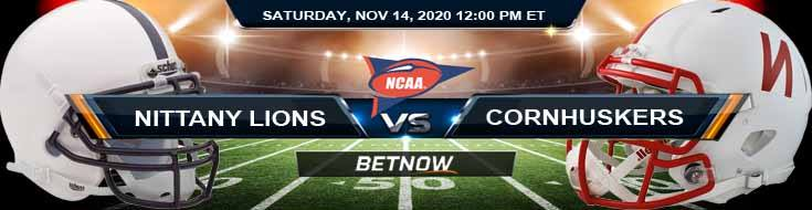 Penn State Nittany Lions vs Nebraska Cornhuskers 11-14-2020 NCAAF Tips Previews & Game Analysis
