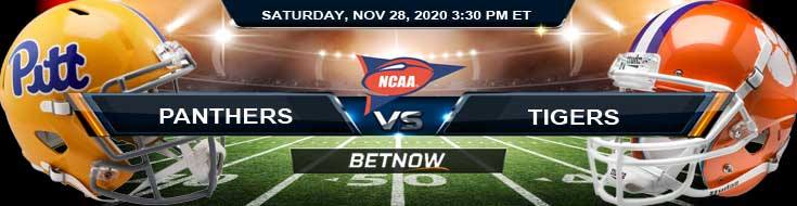 Pittsburgh Panthers vs Clemson Tigers 11-28-2020 Picks NCAAF Predictions & Previews