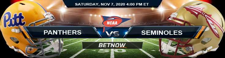 Pittsburgh Panthers vs Florida State Seminoles 11-07-2020 NCAAF Tips Forecast & Analysis