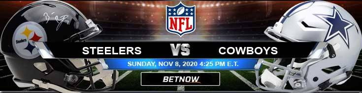 Pittsburgh Steelers vs Dallas Cowboys 11-08-2020 Odds NFL Picks and Predictions