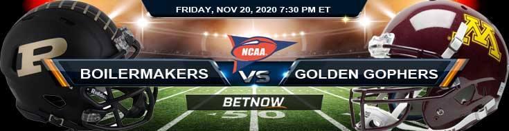 Purdue Boilermakers vs Minnesota Golden Gophers 11-20-2020 NCAAF Picks Predictions & Previews
