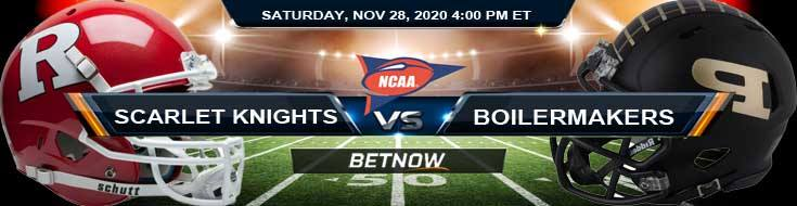 Rutgers Scarlet Knights vs Purdue Boilermakers 11-28-2020 Picks Predictions and Previews