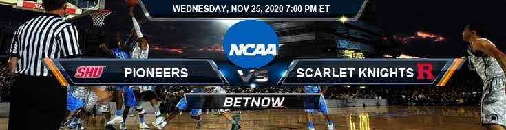 Sacred Heart Pioneers vs Rutgers Scarlet Knights 11-25-2020 Predictions NCAAB Previews and Spread