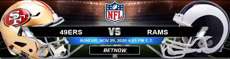 San Francisco 49ers vs Los Angeles Rams 11-29-2020 Picks NFL Predictions and Previews