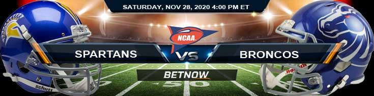 San Jose State Spartans vs Boise State Broncos 11-28-2020 NCAAF Predictions Previews & Spread