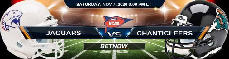 South Alabama Jaguars vs Coastal Carolina Chanticleers 11-07-2020 NCAAF Predictions Previews & Spread