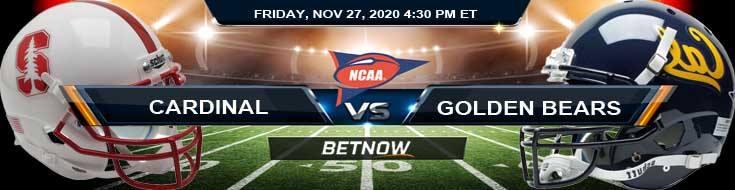 Stanford Cardinal vs California Golden Bears 11-27-2020 NCAAF Previews Odds & Spread