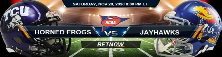 TCU Horned Frogs vs Kansas Jayhawks 11-28-2020 NCAAF Game Analysis Tips & Spread