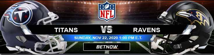 Tennessee Titans vs Baltimore Ravens 11/22/2020 Analysis, Results and Football Betting